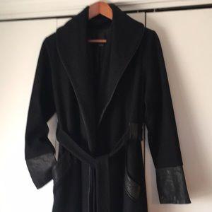 Dolce Vita wool coat, black, M EUC